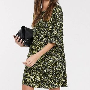 Only Mary 3/4 Sleeve Printed Smock Dress